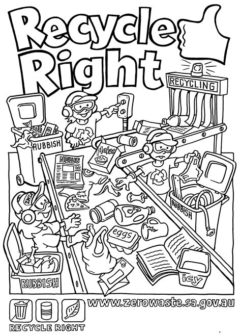 coloring book pages environment recycling coloring pages for kids az coloring pages