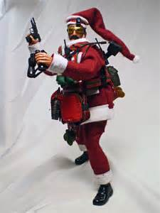 1 6 scale commando santa claus figure saw gunner by