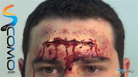 imagenes de heridas para halloween maquillar con sangre falsa la herida maquillada en