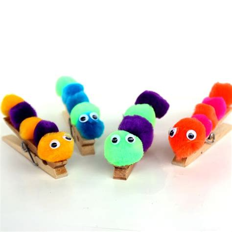 pom pom craft for caterpillar caterpillar craft and pom poms on