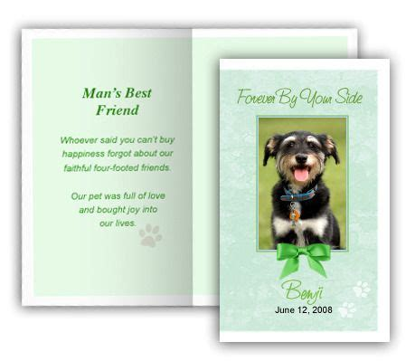 free memorial card templates for mac 19 best images about pet memorials templates on