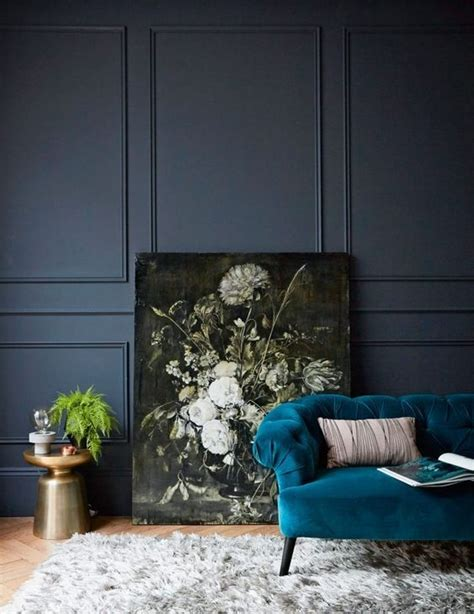 interior color trend  dark teal  design dark