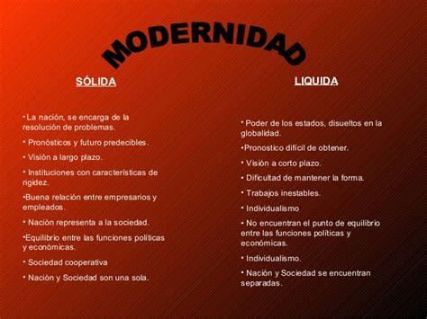 modernidad lquida modernidad solida vs modernidad liquida