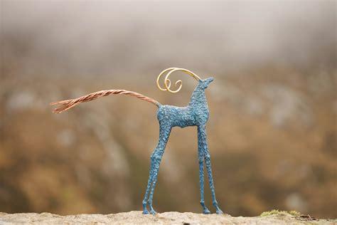 Blue Goat sculpture ronan halpin sculpture