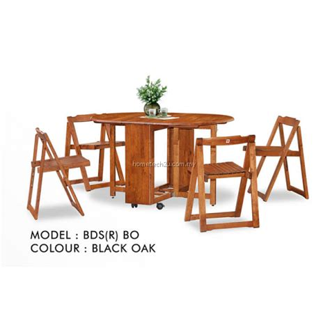 Butterfly Wooden Foldable Dining Table And 4 Folding Butterfly Dining Set And 4 Chairs