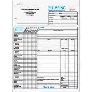 plumbing three part work order invoice forms custom