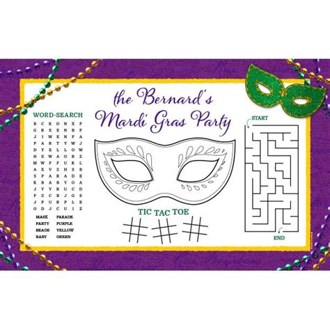 printable games for mardi gras keep the littlest krewe members occupied during busy fat