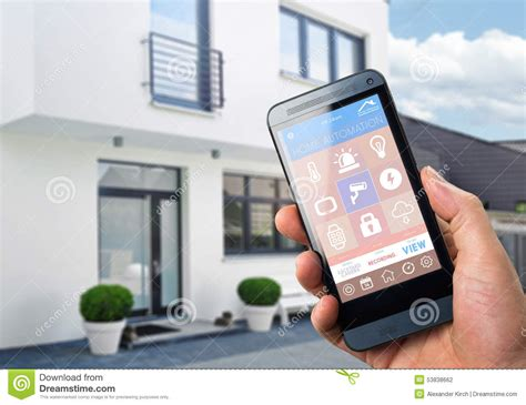 smartphone home automation smart home device home control stock illustration illustration of illustration icon 53838662