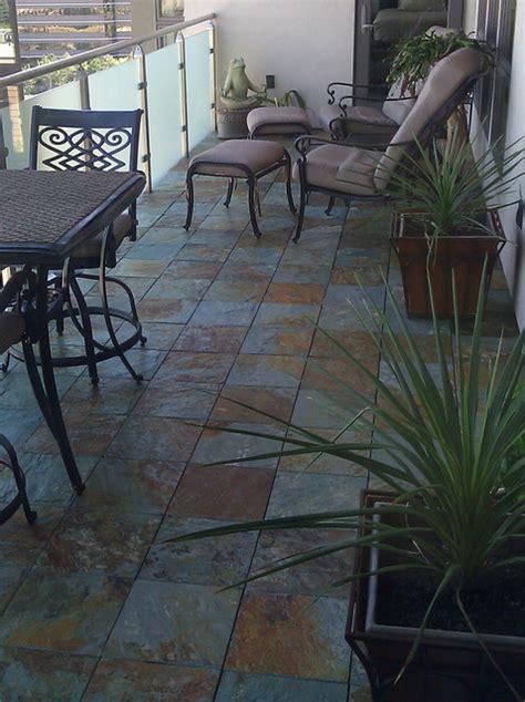 interlocking slate deck tiles  balcony traditional