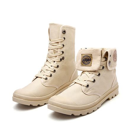 army desert boots outdoor canvas boots high top boot army