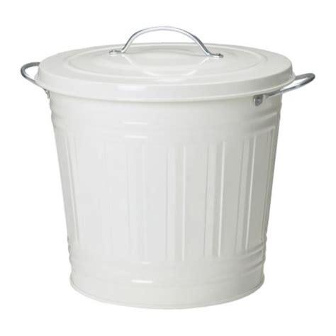 knodd bin with lid white 16 l ikea