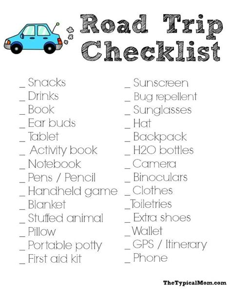 packing list brought to you by caroline see all packing list posts road trip packing list 183 the typical mom