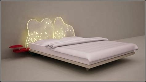 led lights bed headboards contemporary bed and headboard designs to sleep under led