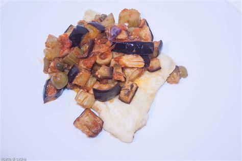 cucinare filetti di platessa filetti di platessa con caponata ricette di cucina