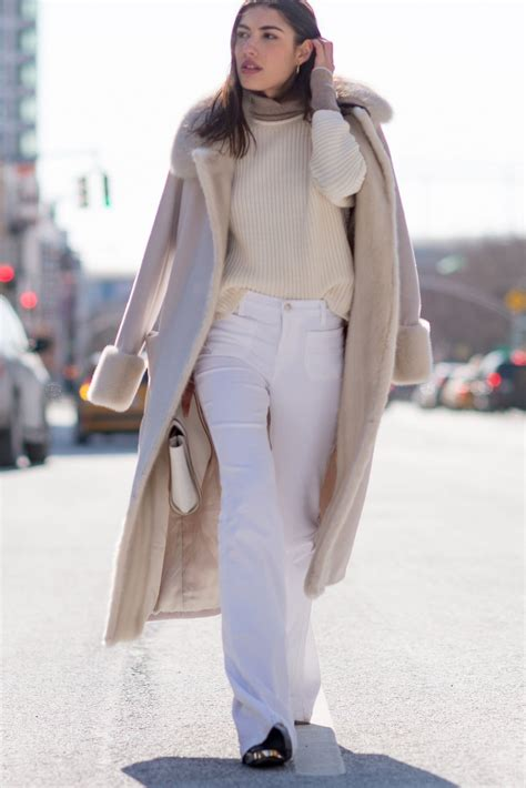 The Dos And Don Ts Of Wearing Winter White Outfits Glamour Best Womens White Dress Shirt