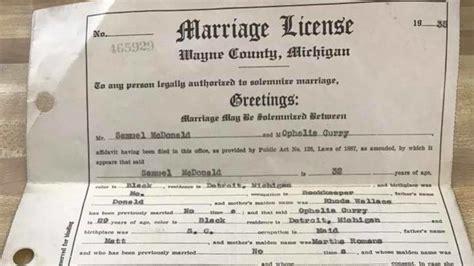 License marriage ohio record
