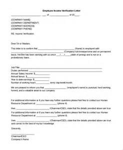 Income Verification Letter Sample Income Verification Letter 8 Examples In Pdf Word