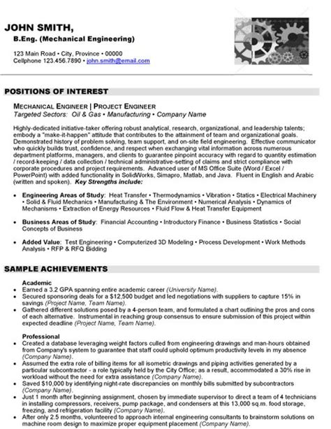 click here to this mechanical engineer resume sle http www resumetarget