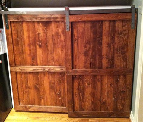Barn Door Cabinets Barn Door Distressed Wood Cabinet By The Yellow Peony Contemporary Kitchen Cabinetry By Etsy