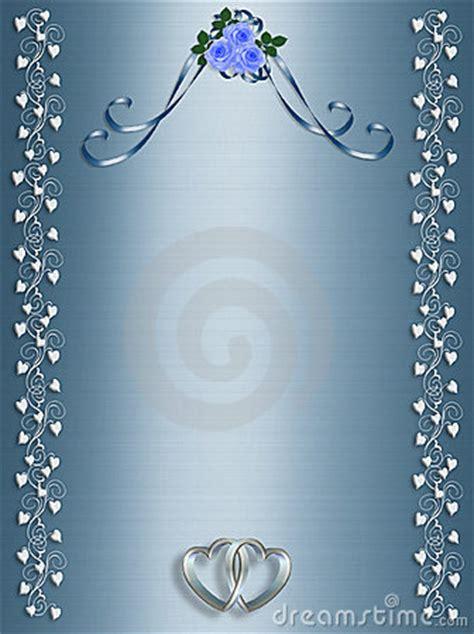 blue roses template wedding invitation royalty  stock