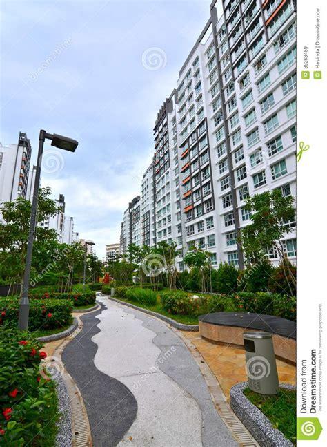 flat architecture hdb flat architecture singapore stock photo image
