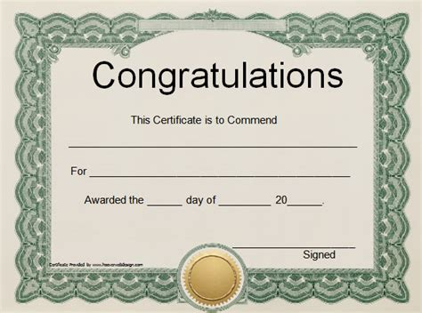 blank certificate templates for word free congratulation word certificate template blank pdf
