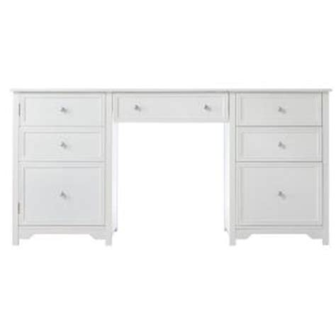 executive desk white home decorators collection oxford 1 door with 4 drawer wood executive desk in white 0151200410