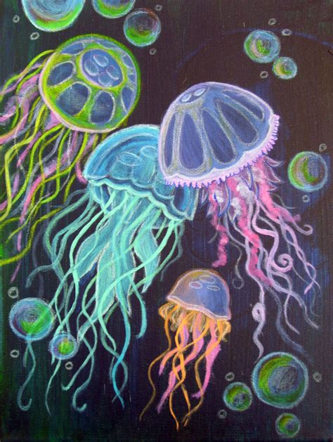 acrylic paint jellyfish wednesdays guest post niggel i i made you