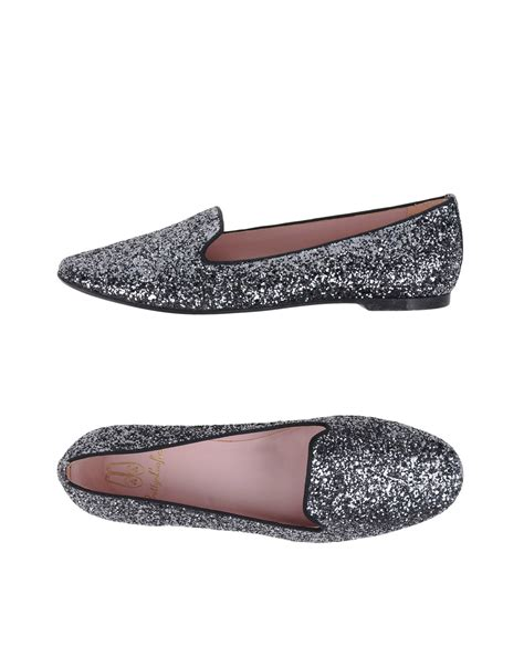 pretty loafers pretty loafers moccasins in gray lead lyst