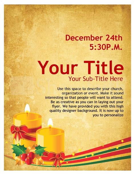 Christmas Carols Church Flyer Template Flyer Templates Caroling Flyer Template