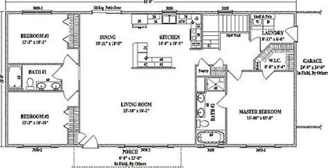 ranch open concept floor plans jamestown iv by wardcraft homes ranch floorplan manse