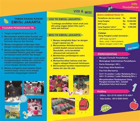 desain brosur tk 7 contoh desain brosur sekolah islam tk sd smp dan sma