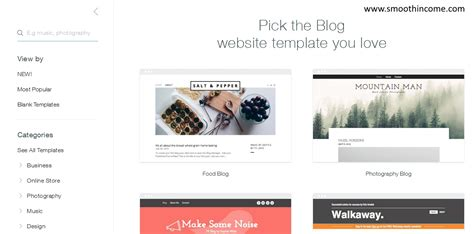 wix blog templates gallery templates design ideas
