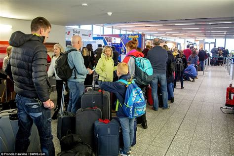 Bristol Airport Information Desk by Drivers Are Warned They Chaos Daily Mail