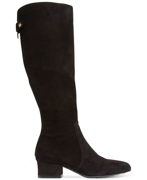klein camden wide calf dress boots in black lyst