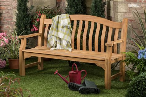 garden bench plaque 5ft solid teak tenbury garden bench with free plaque