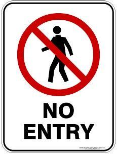 Stiker Tanda Dilarang Masuk dilarang masuk rambu keselamatan kerja gt gt rambu k3