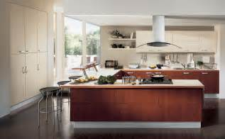 amazing Laundry In Kitchen Design Ideas #4: cool-contemporary-kitchen-design-ideas-with-corner-bay-window-and-U-shaped-kitchen-island-feats-high-tech-electric-stove-top.jpg