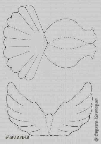 dove templates free diy paper dove the idea king