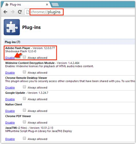 chrome enable flash google chrome enable or disable adobe flash player