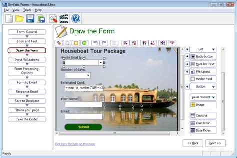 web drawing program how to make a web form and get it quickly