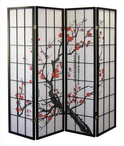 room divider screen 4panels black folding hardwood wood