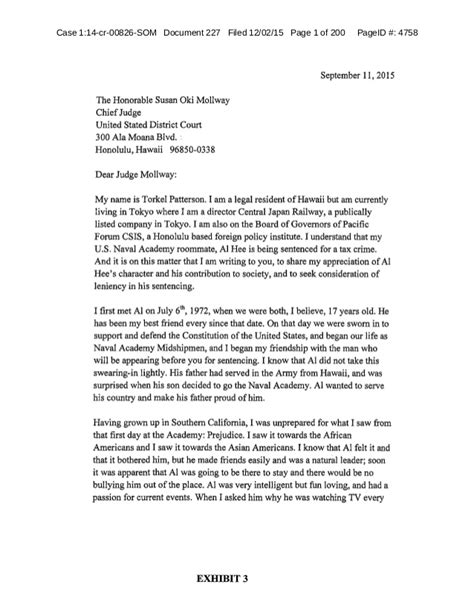 Child Support Letter To Judge Letters Of Support