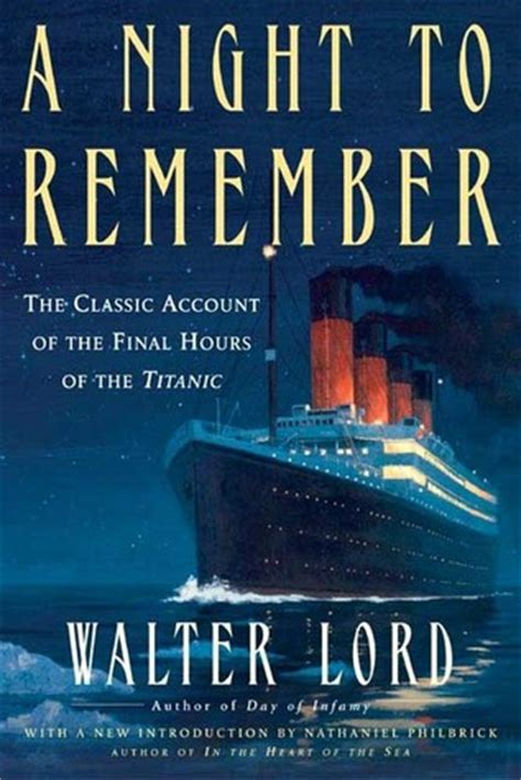remember books booktalk more review a to remember by walter lord