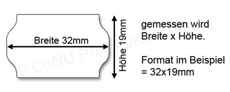 Etiketten Contact by Contact Preisetiketten 32x19mm Wellenrand Etiketten