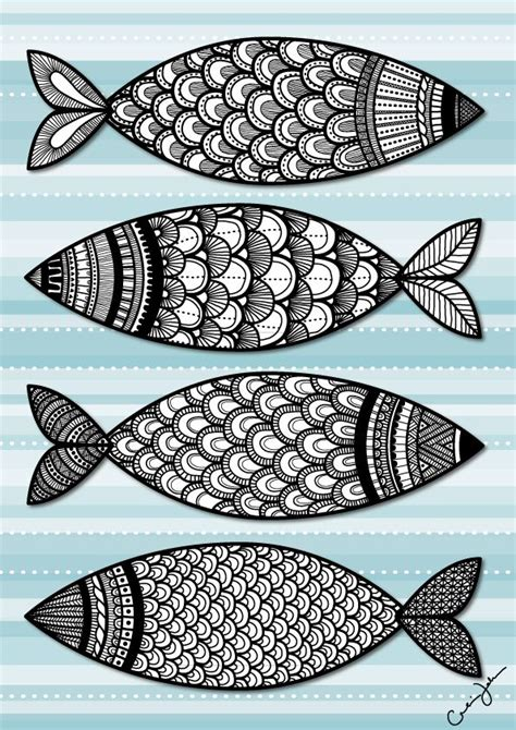 pattern drawing fish 17 best images about zentangle fish on pinterest