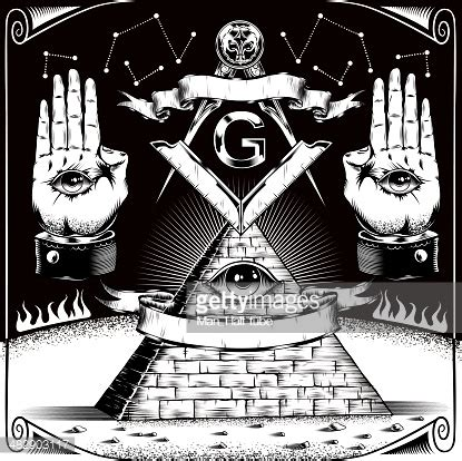 masons illuminati freemason symbols vector getty images