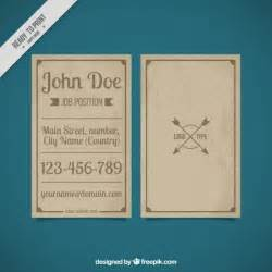 Vintage Business Card Template by Vintage Business Card Template Vector Free
