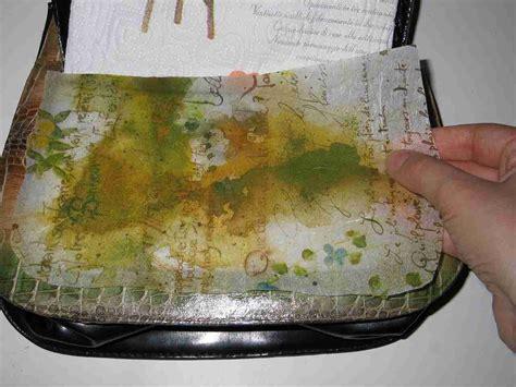 tutorial decoupage con carta di riso trasformare una borsa con il decoupage 3d