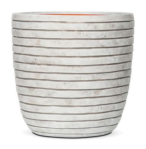 Vase Sizes by White Ribbed Vase Planter Various Sizes Savvysurf Co Uk